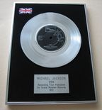 MICHAEL JACKSON - BEN PLATINUM single presentation Disc